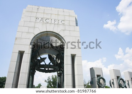 World War II Memorial in Washington, DC - stock photo