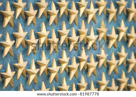 World War II Memorial Stars in Washington, DC - stock photo