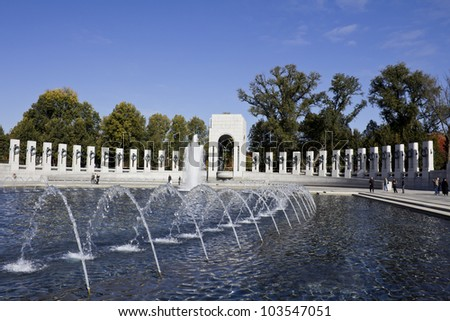 World War II Memorial, Washington DC, United States - stock photo