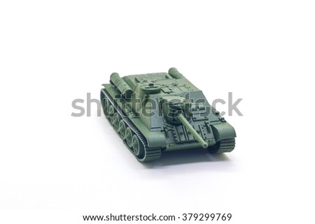World war II toy tank isolate on white background