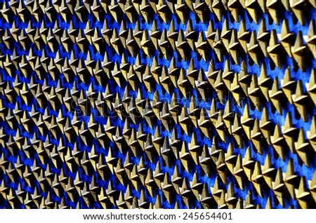 World War II war monument in DC with gold stars for fallen soldiers - stock photo