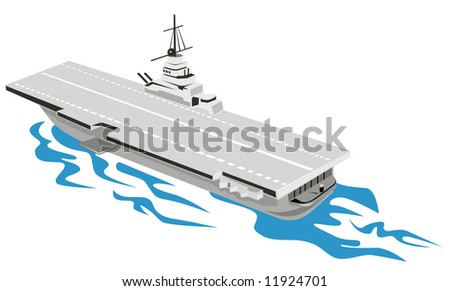 World War Two Aircraft carrier - stock photo