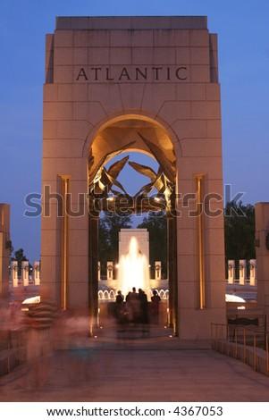 world war two memorial in washington dc - stock photo