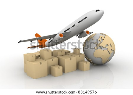 world wide cargo transport NEW CONCEPT - stock photo