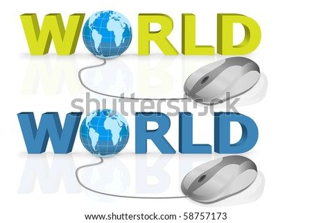 world wide search by a single mouse click