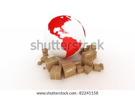 world wide transport - stock photo
