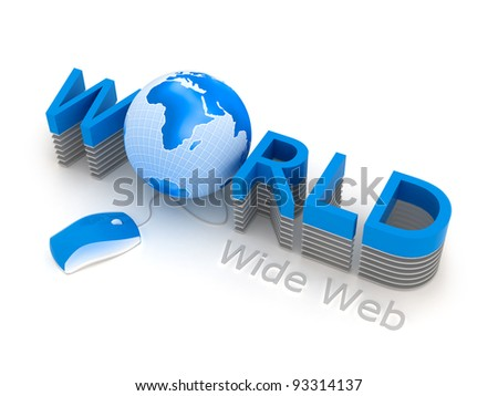 World Wide Web - computer mouse and globe