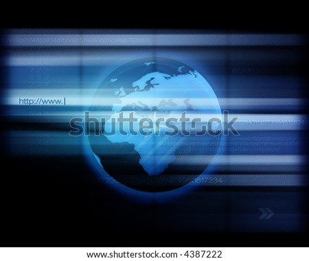 World Wide Web - Conceptual high-res internet background with interesting dot screen effect. - stock photo