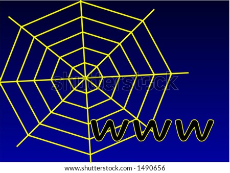 world wide web simple graphic and bluish background - stock photo
