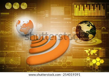 World wifi concept - stock photo
