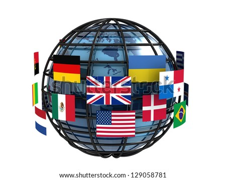 Worldwide communication concept - stock photo