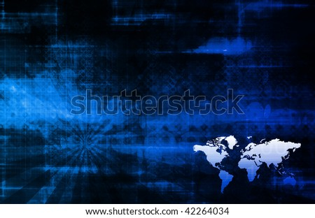 Worldwide Corporate Expansion as a Background - stock photo