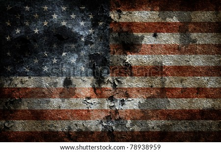 Worn american flag background. - stock photo
