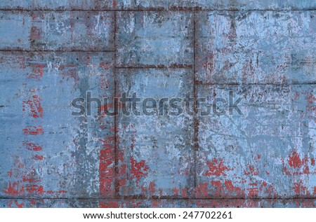 Worn and Dirty Metal Texture with Seams (Part of Grungy Textures with Rusty Seams set, which includes textures that can be used together to create a huge image) - stock photo