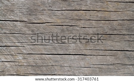 Worn and Weathered Horizontal Grained Wood Background - stock photo