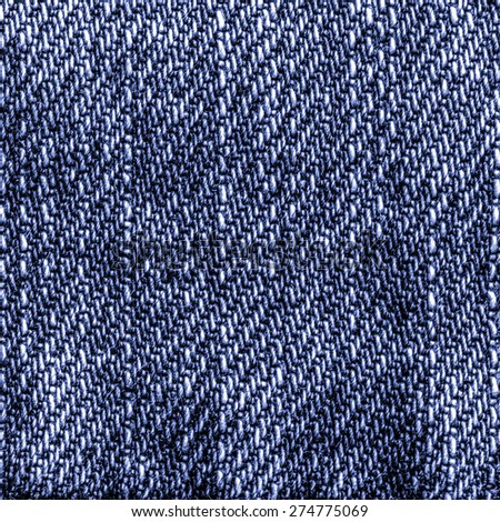 worn blue denim texture closeup. Can be used as background for design-works - stock photo