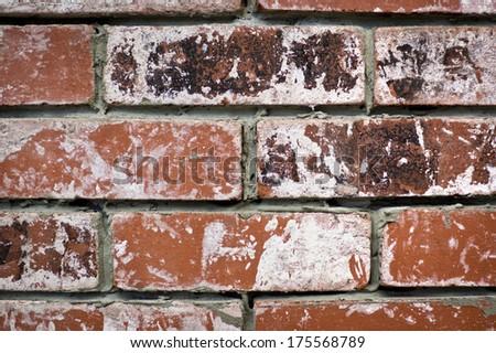 worn bricks texture backround, macro - stock photo