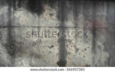 Worn concrete texture with water drips.  - stock photo