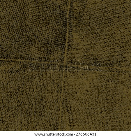 worn dark brown jeans texture,seams in shape of the cross - stock photo