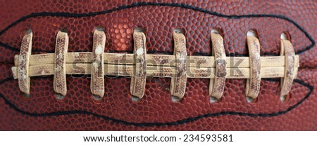 Worn Football Close Up for Sports Background - stock photo