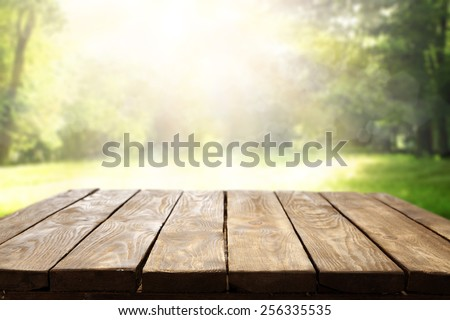 worn old table of spring  - stock photo