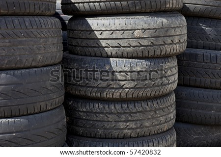 worn out car tires