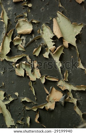 Worn out paint - stock photo