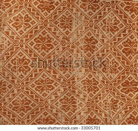 worn red carpet pattern - stock photo