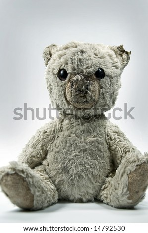 worn Teddy Bear - stock photo