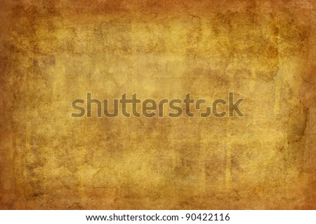 worn, textured background in yellow and brown - stock photo