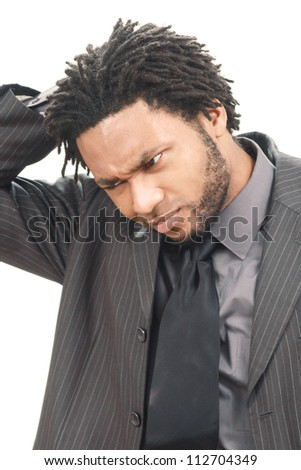 Worried business man - stock photo