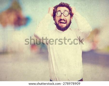 worried fool man - stock photo