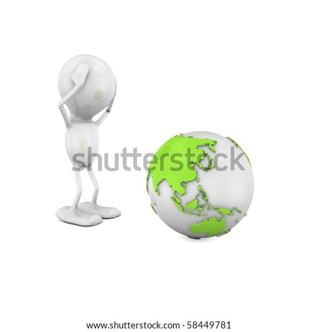 Worried for the Planet - stock photo
