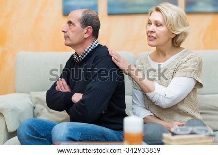 Living room wrestling mature women