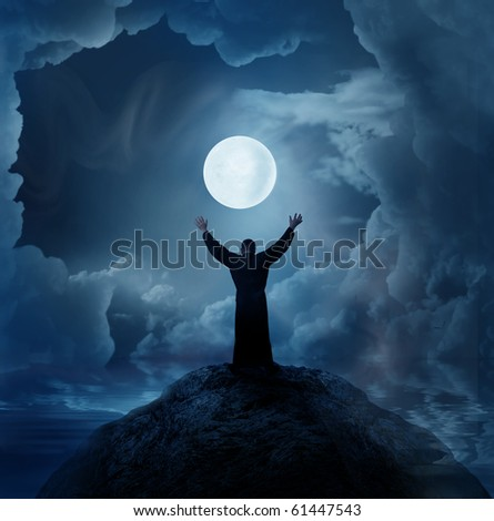 worship - stock photo