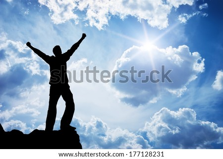Worship to God. Element of design. - stock photo