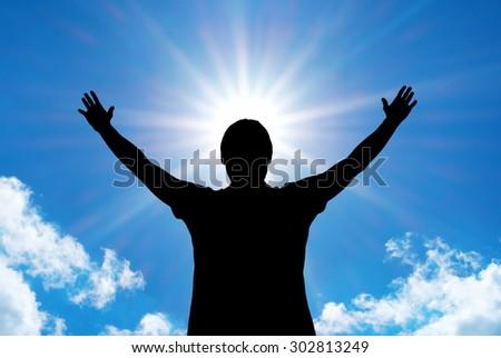 Worship to God. Element of design. - stock photo