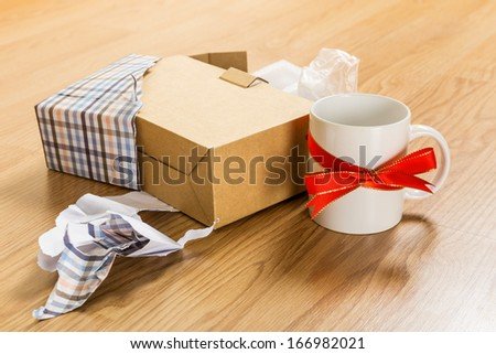 Worst christmas gift, cup - stock photo