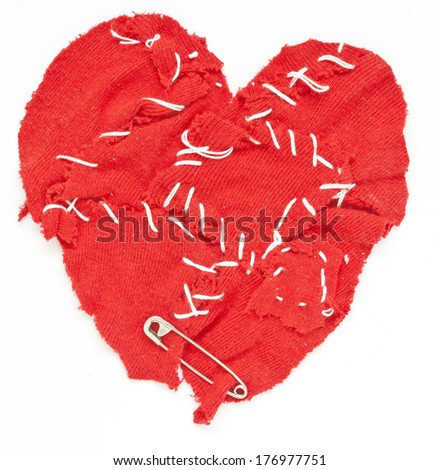 wounded heart - stock photo