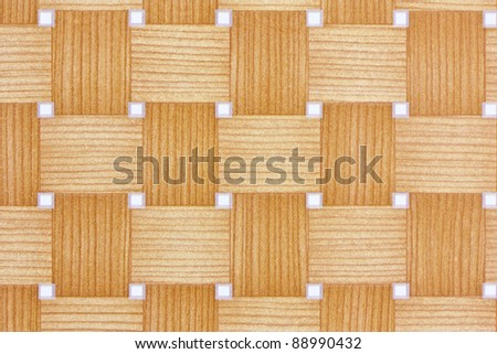 woven bamboo style wall paper - stock photo