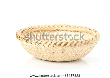 woven basket - stock photo