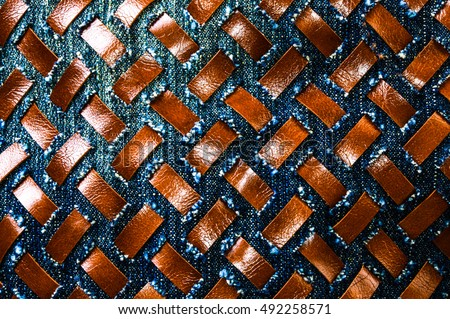 woven design of leather