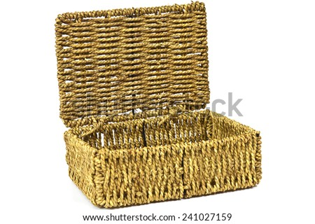 Woven from natural materials box for home use - stock photo
