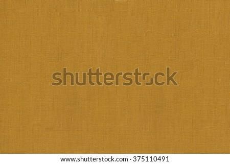 Woven mustard yellow clean flat warp textured background - stock photo