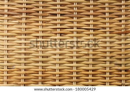 Woven rattan texture background - stock photo