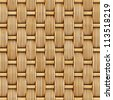 woven rattan with natural patterns - stock photo