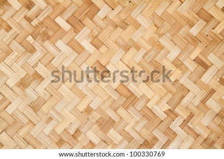 woven rattan with natural patterns