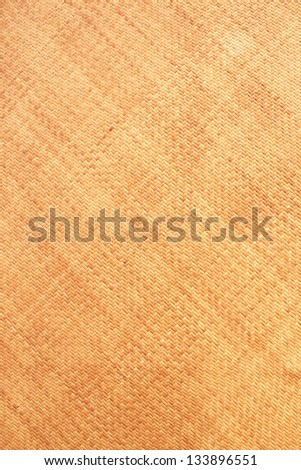 Woven rattan with natural patterns, vintage wall. - stock photo