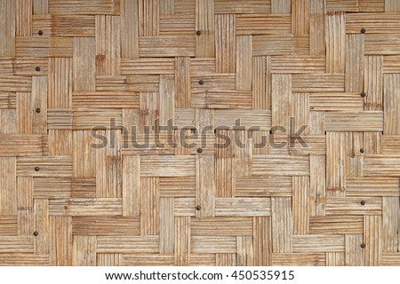 woven wood as background or pattern