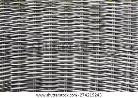 woven wood rattan background - stock photo